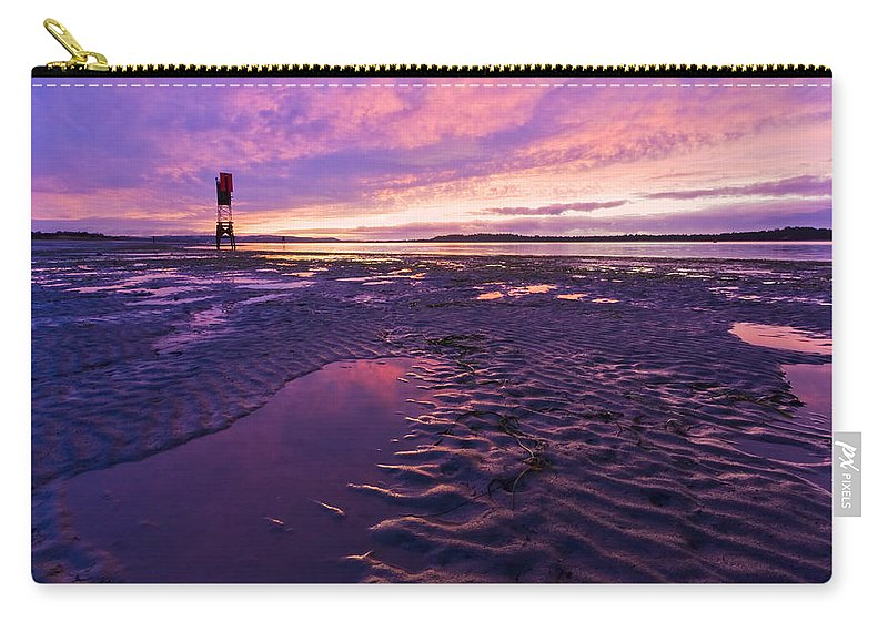 Coos Bay Carry-all Pouch featuring the photograph Purple After The Rain by Patricia Davidson