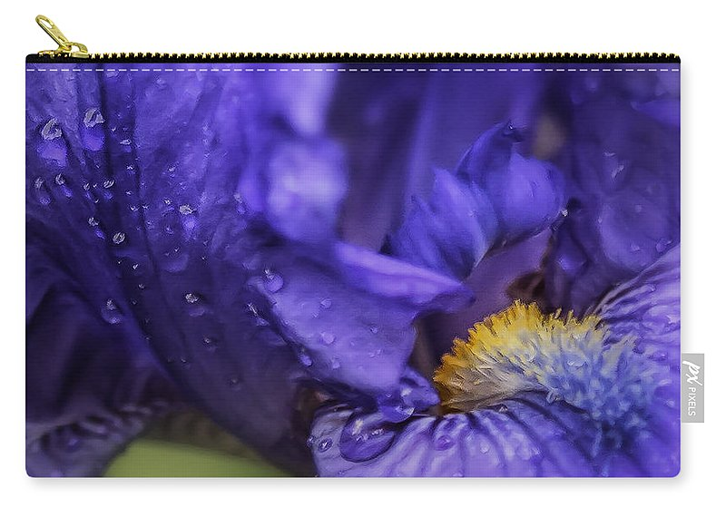 Iris Carry-all Pouch featuring the photograph Purple Bliss by Belinda Greb