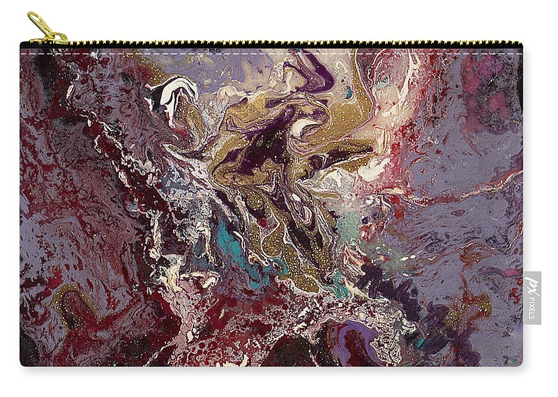 Purple Carry-all Pouch featuring the painting Purple Blitz by Nadine Rippelmeyer
