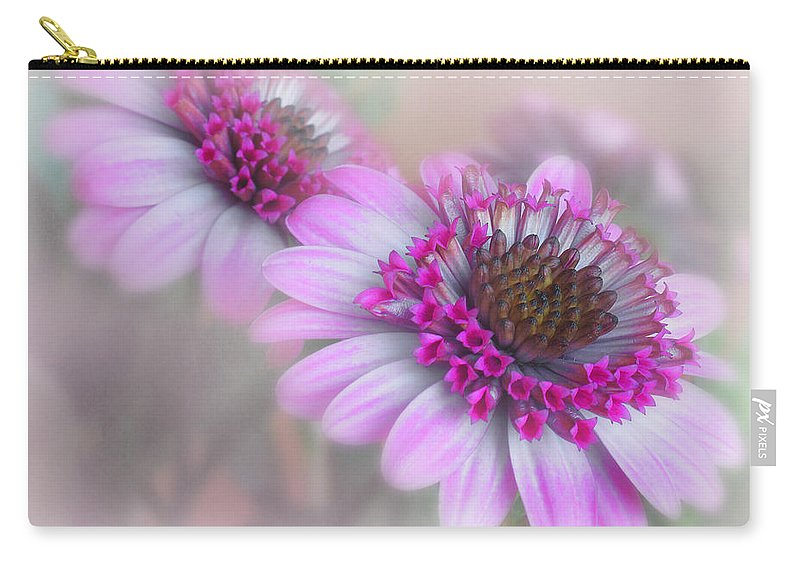 Flower Carry-all Pouch featuring the photograph Purple Blooms by David and Carol Kelly