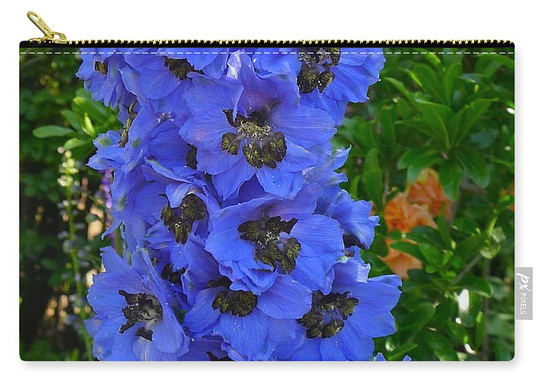 Flower Carry-all Pouch featuring the photograph Purple Blue by Denise Mazzocco