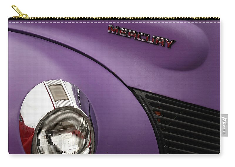 Car Carry-all Pouch featuring the photograph Purple Bomb by Art Block Collections