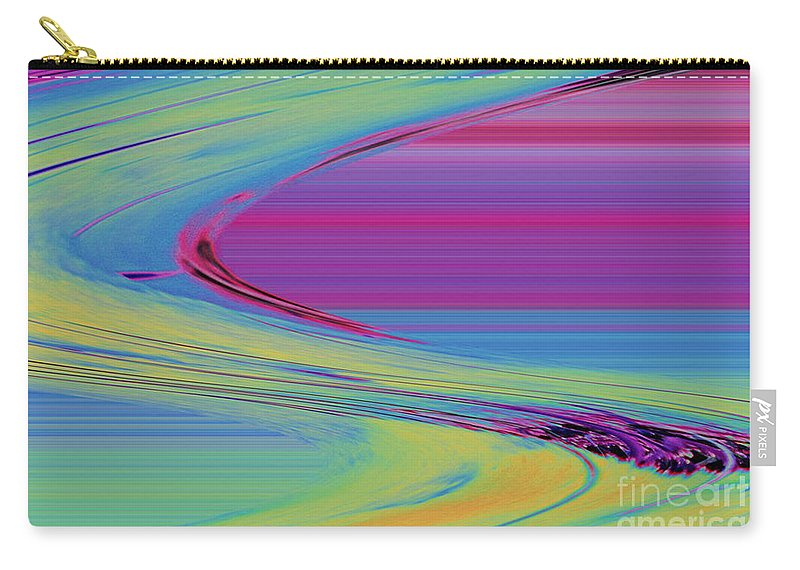 Purple Carry-all Pouch featuring the digital art Purple by Carol Lynch