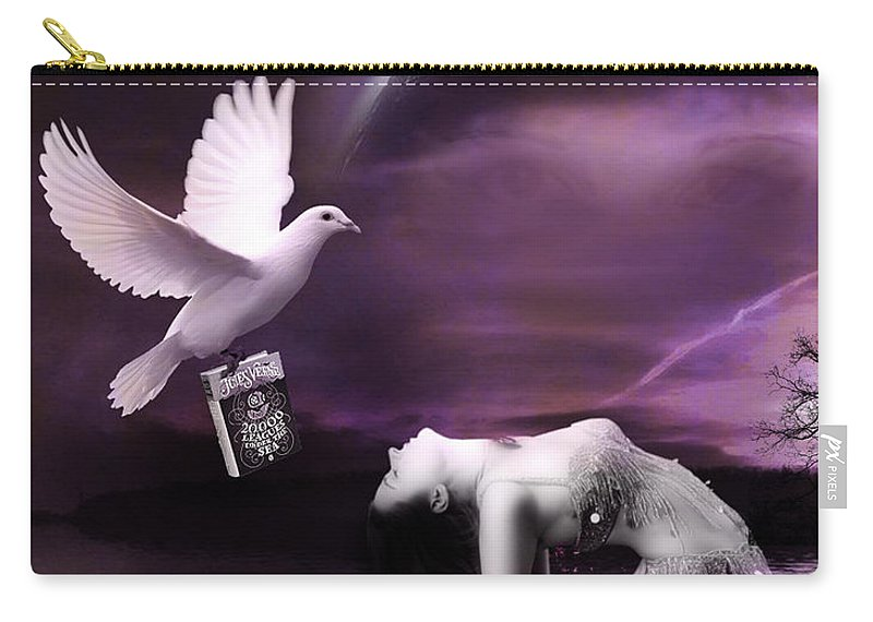 White Carry-all Pouch featuring the photograph Purple Dream by Kristie Bonnewell