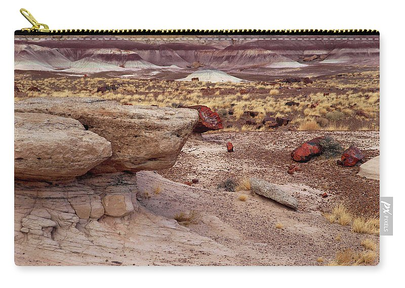 Jim Carry-all Pouch featuring the photograph Purple Earth by James Peterson