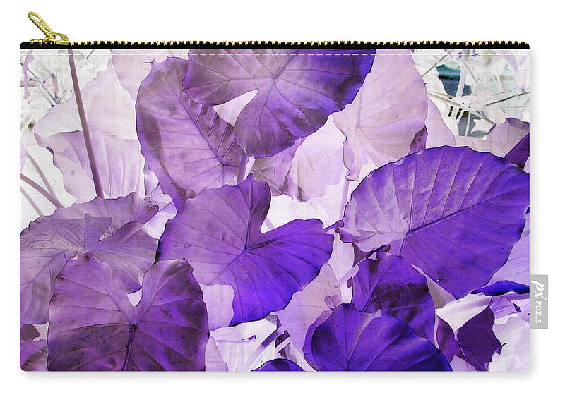 Purple Carry-all Pouch featuring the photograph Purple Elephants by Debi Singer