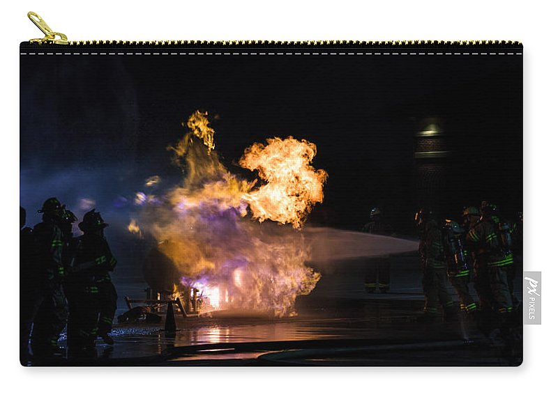 Extinguish Carry-all Pouch featuring the photograph Purple Flames by Sennie Pierson