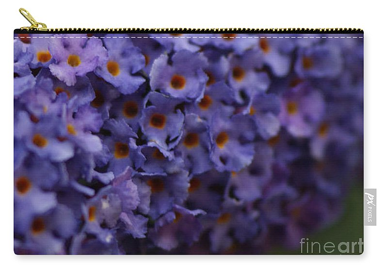 Purple Carry-all Pouch featuring the photograph Purple Flowers 2 by Carol Lynch