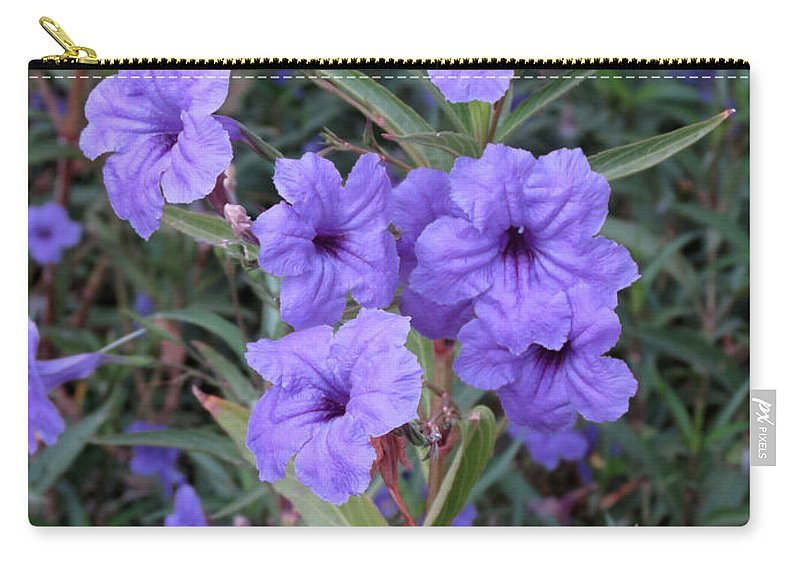 Flowers Carry-all Pouch featuring the photograph Purple Flowers by Laurel Powell