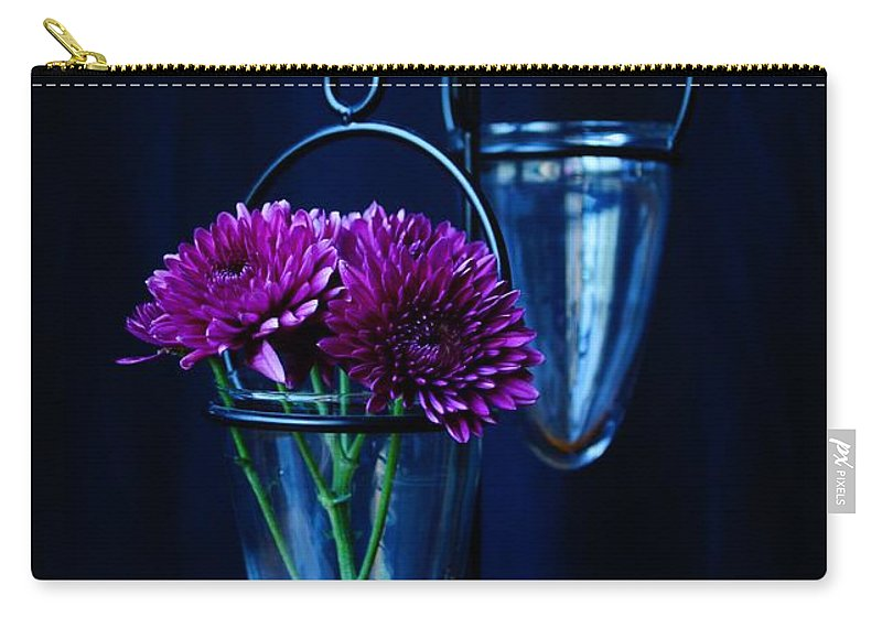 Flower Carry-all Pouch featuring the photograph Purple Flowers Still Life by Kerri Mortenson