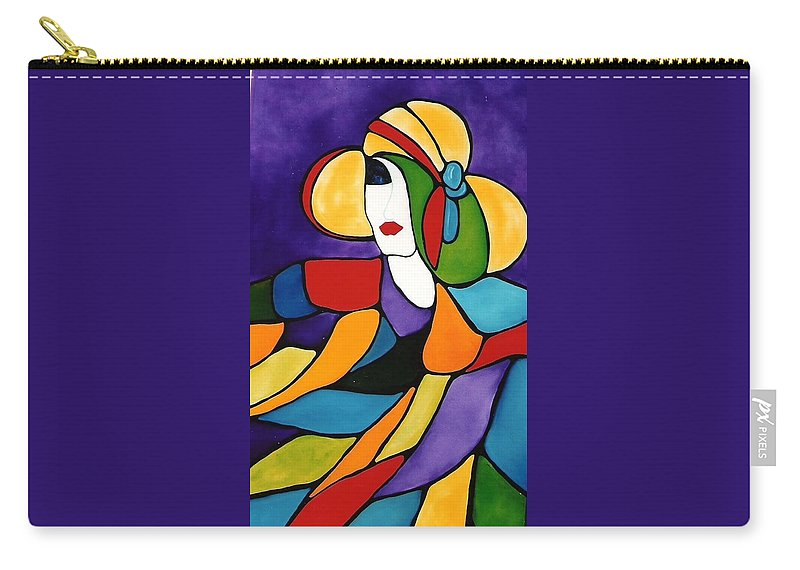 Lady Carry-all Pouch featuring the painting Purple by Lord Frederick Lyle Morris - Disabled Veteran