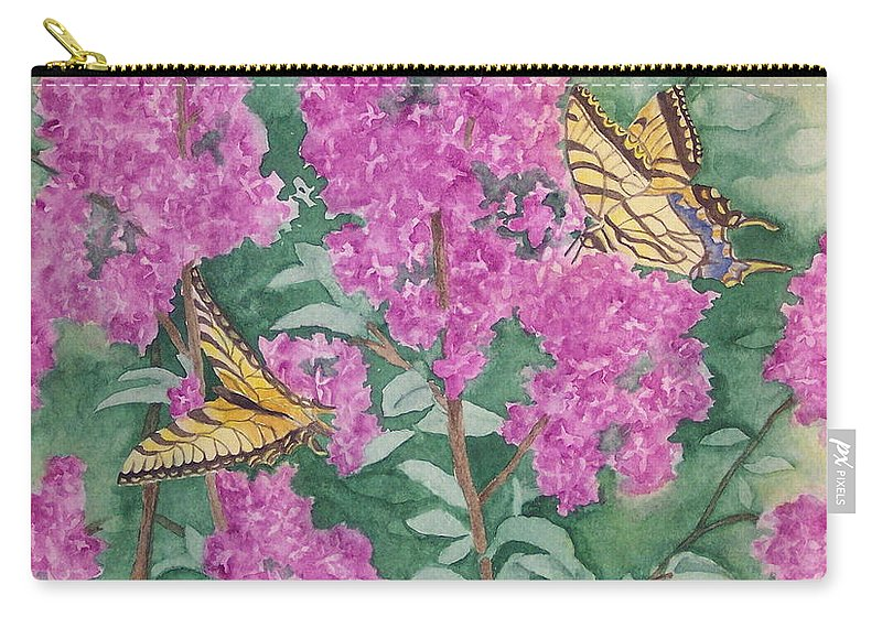 Lilacs Carry-all Pouch featuring the painting Purple Haze Cafe by Rhonda Leonard