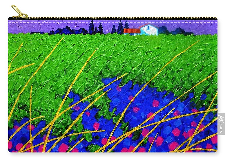Cottage Carry-all Pouch featuring the painting Purple Hills by John Nolan