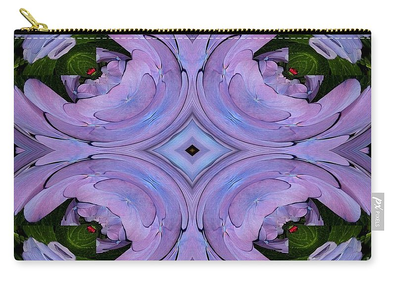 Hydrangea Carry-all Pouch featuring the photograph Purple Hydrangea Flower Abstract 2 by Rose Santuci-Sofranko
