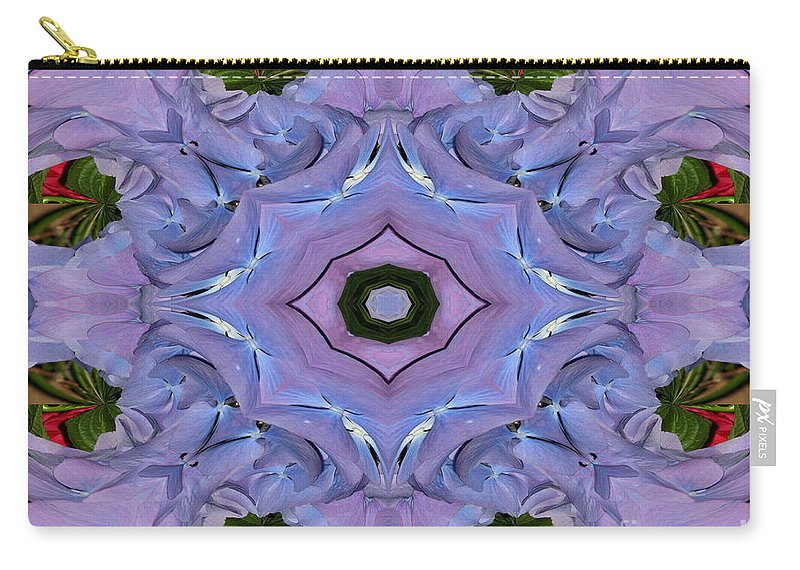 Hydrangea Carry-all Pouch featuring the photograph Purple Hydrangea Flower Abstract by Rose Santuci-Sofranko