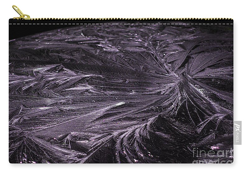 Purple Carry-all Pouch featuring the photograph Purple Ice by Judy Wolinsky