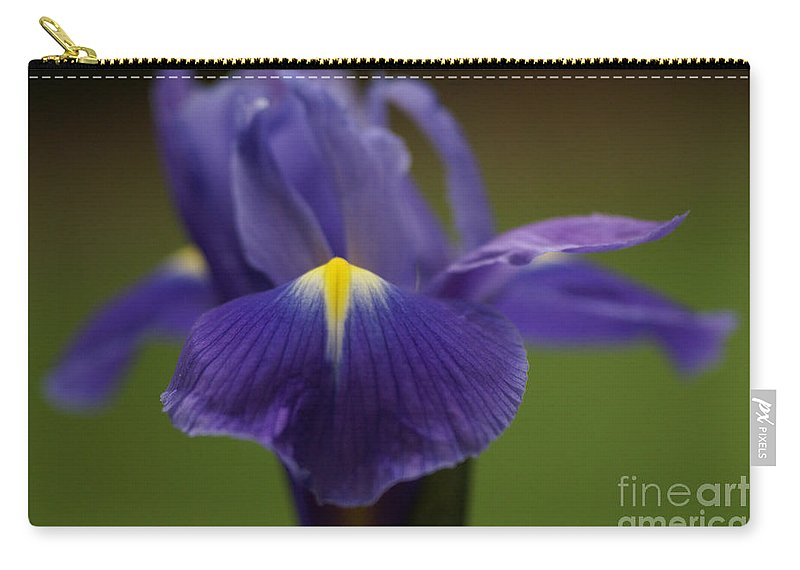 Purple Carry-all Pouch featuring the photograph Purple Iris 6 by Carol Lynch