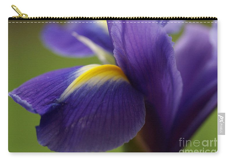 Purple Carry-all Pouch featuring the photograph Purple Iris 8 by Carol Lynch