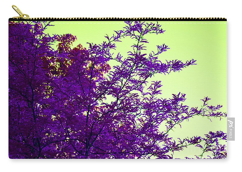 Digital Carry-all Pouch featuring the digital art Purple Morning by Alys Caviness-Gober
