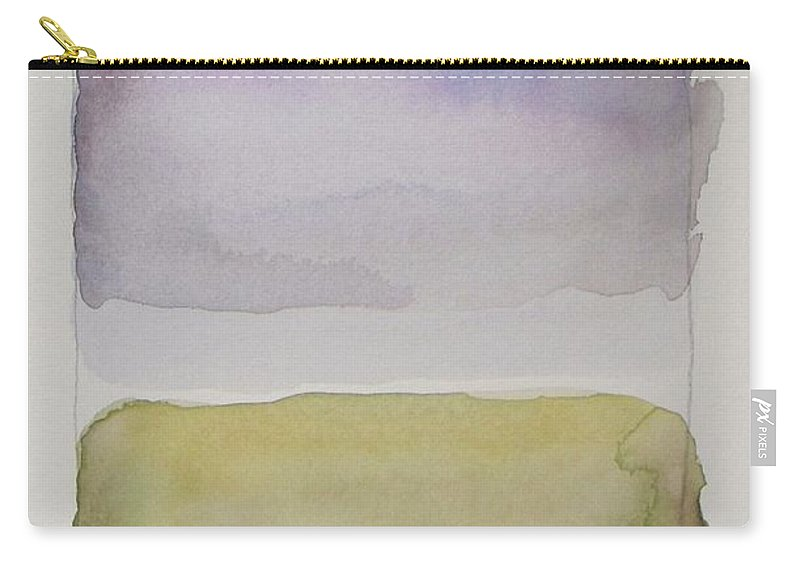 Landscape Carry-all Pouch featuring the painting Purple Morning by Vesna Antic