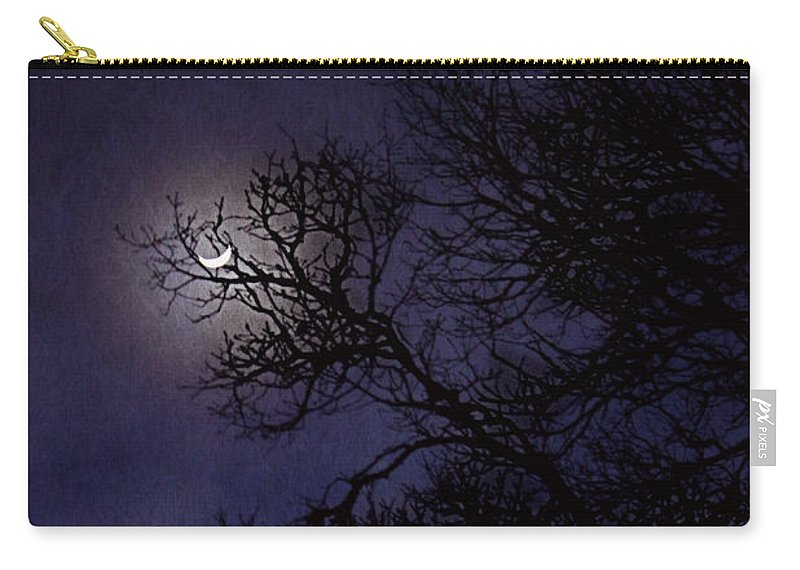 Moon Carry-all Pouch featuring the photograph Purple Nights by Melanie Lankford Photography