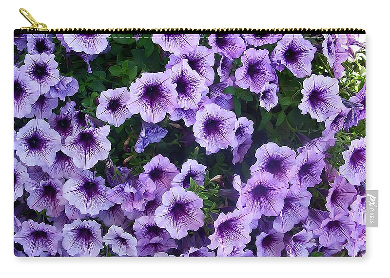 Flower Carry-all Pouch featuring the photograph Purple Petunias by Aimee L Maher ALM GALLERY