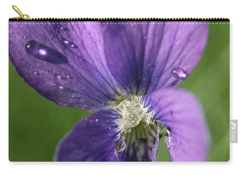 Purple Flower Carry-all Pouch featuring the photograph Purple Rain by Neal Eslinger