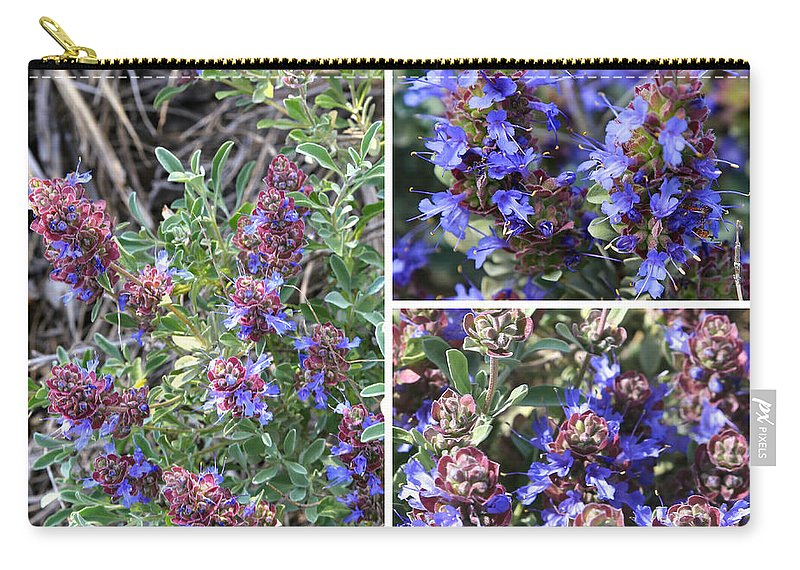 Purple Sage Carry-all Pouch featuring the photograph Purple Sage Collage by Carol Groenen