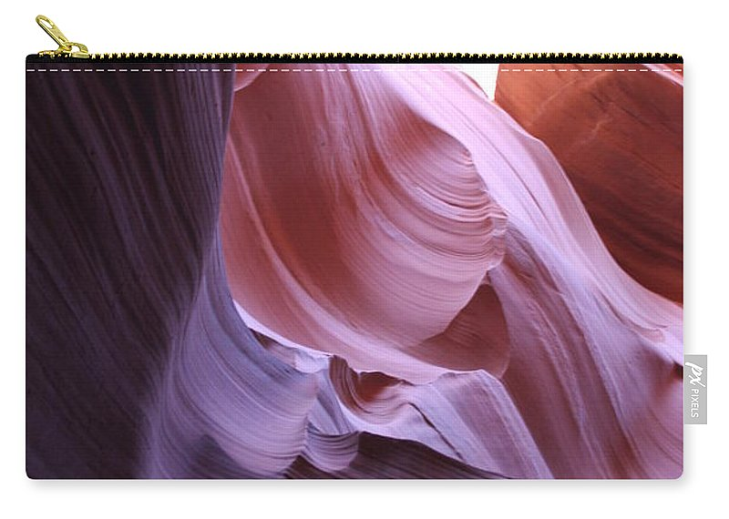 Canyon Carry-all Pouch featuring the photograph Purple Sandstone by Christiane Schulze Art And Photography