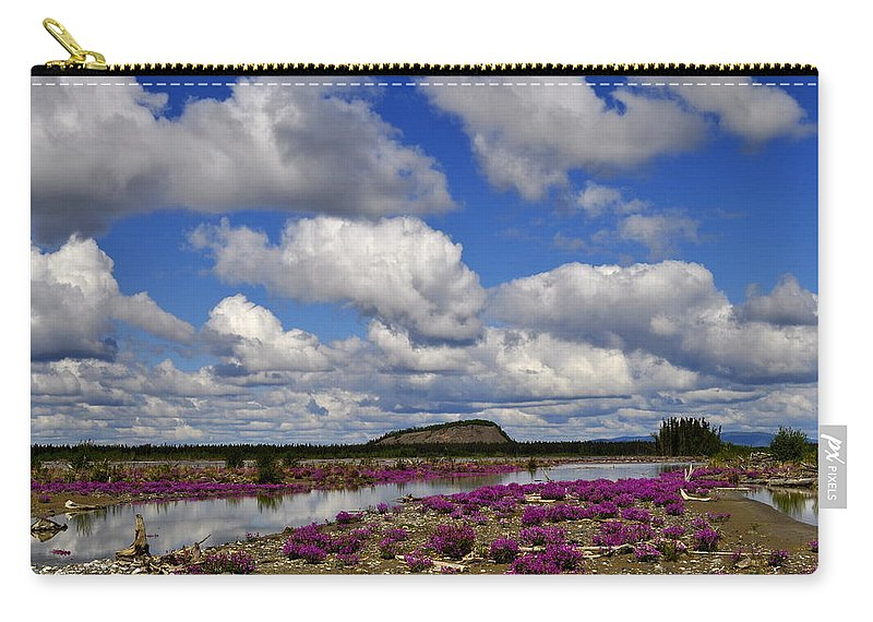 Purple Carry-all Pouch featuring the photograph Purple Spring by Cathy Mahnke