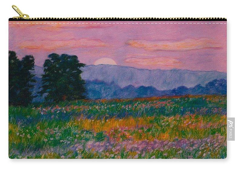 Kendall Kessler Carry-all Pouch featuring the painting Purple Sunset On The Blue Ridge by Kendall Kessler
