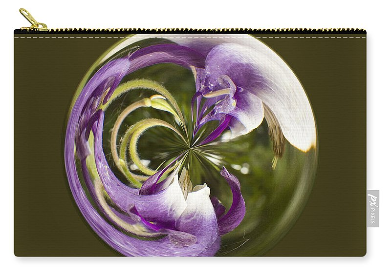 Orb Carry-all Pouch featuring the photograph Purple Swirl Orb by Darleen Stry