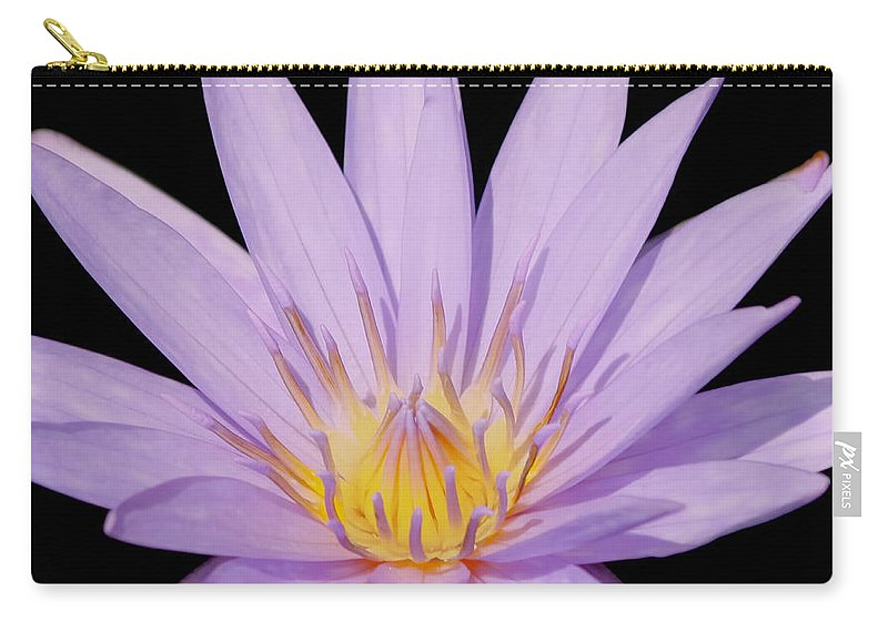Purple Carry-all Pouch featuring the photograph Purple Water Lily by Kim Hojnacki