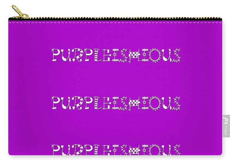 Purpleishious Carry-all Pouch featuring the digital art Purpleishious by Barbara Griffin