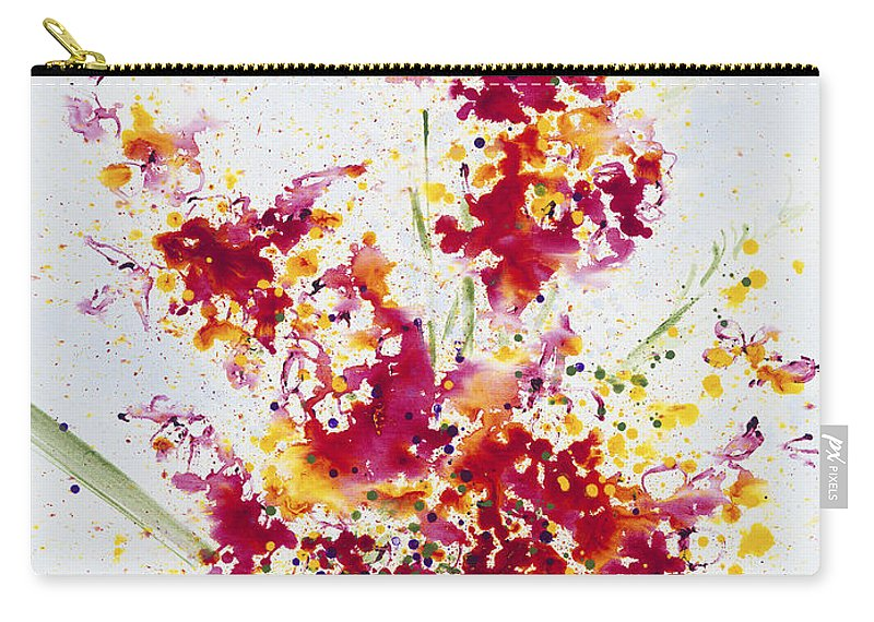 Colorchrome Scans Carry-all Pouch featuring the painting Purposeful Season by Jerome Lawrence