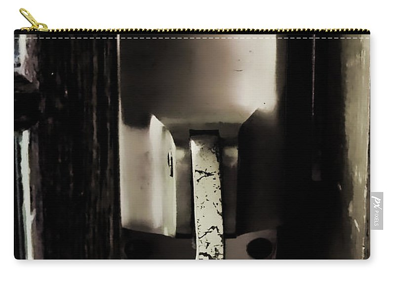 Digital Art Carry-all Pouch featuring the photograph Push by Cathy Anderson