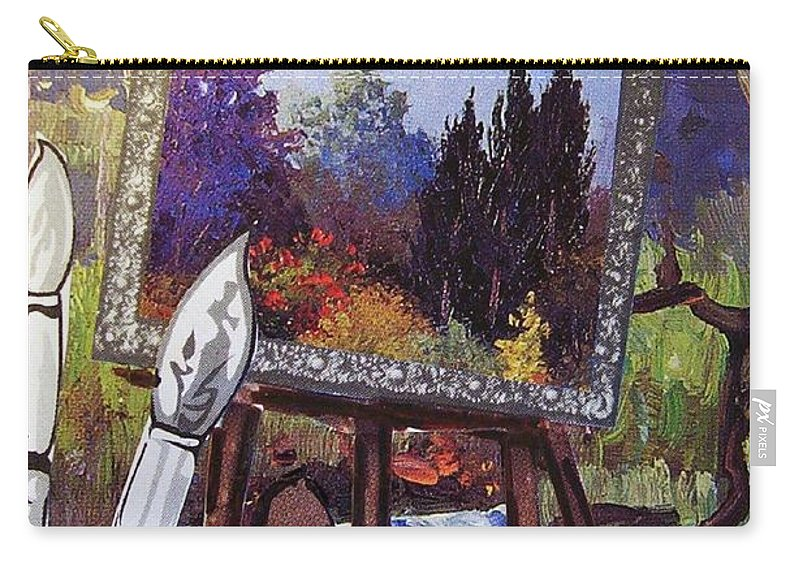 Easel Carry-all Pouch featuring the painting Put Color In Your Life by Eloise Schneider