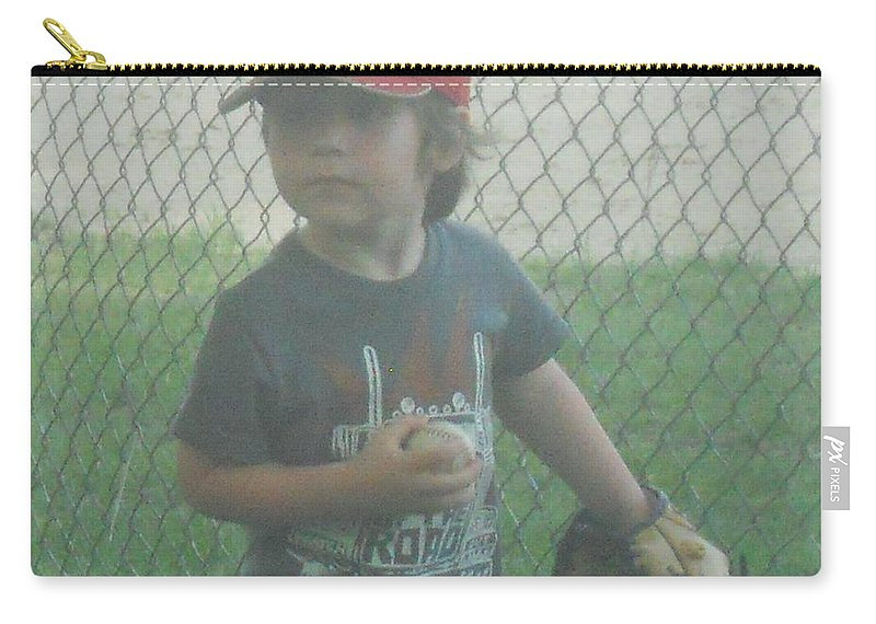 Softball Carry-all Pouch featuring the photograph Put Me In by Coleen Harty