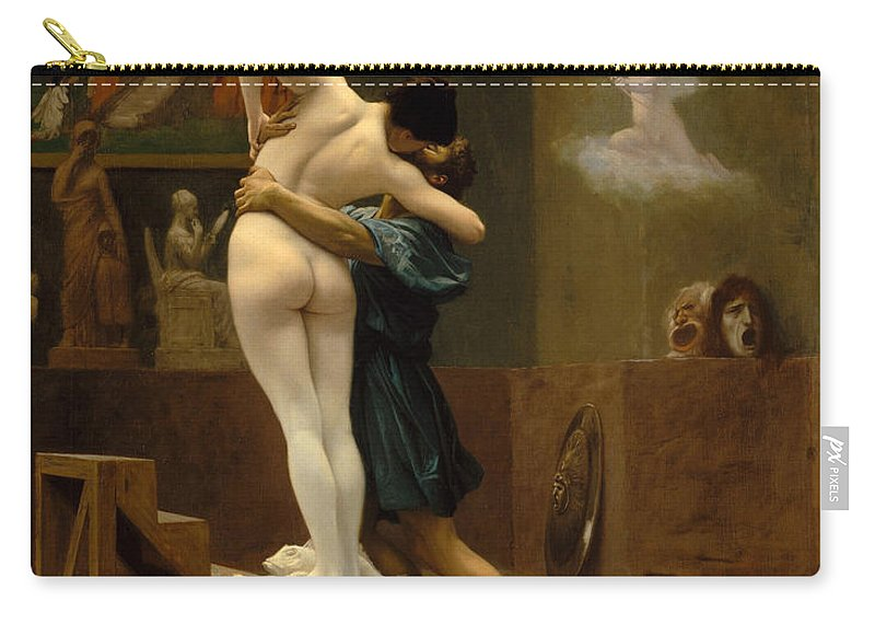 Jean-leon Gerome Carry-all Pouch featuring the painting Pygmalion And Galatea by Jean-Leon Gerome
