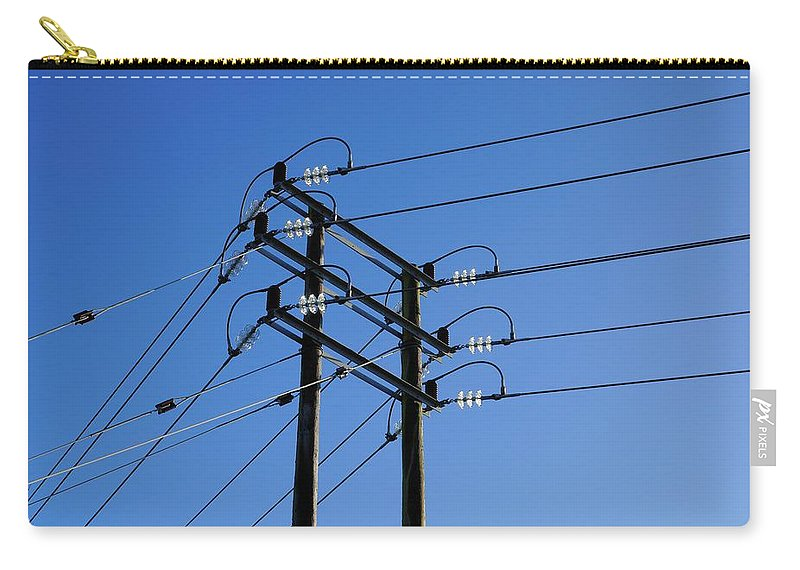Pylon Carry-all Pouch featuring the photograph Pylon 15 by Ron Harpham