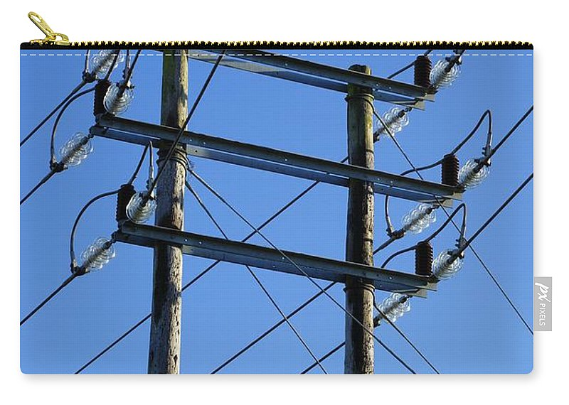 Pylon Carry-all Pouch featuring the photograph Pylon 21 by Ron Harpham