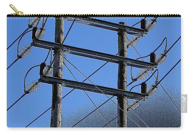 Pylon Carry-all Pouch featuring the photograph Pylon 21a by Ron Harpham