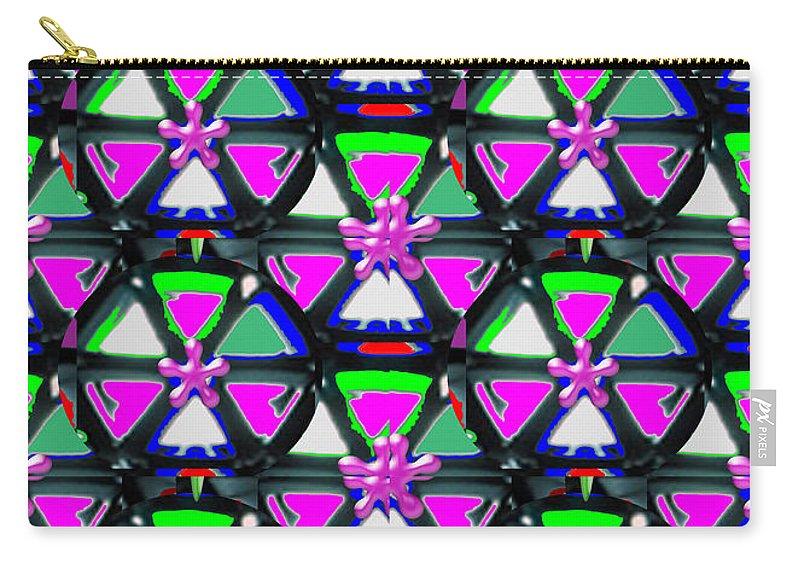 Pyramid Carry-all Pouch featuring the mixed media Pyramid Dome Triangle Purple Elegant Digital Graphic Signature  Art Navinjoshi Artist Created Ima by Navin Joshi