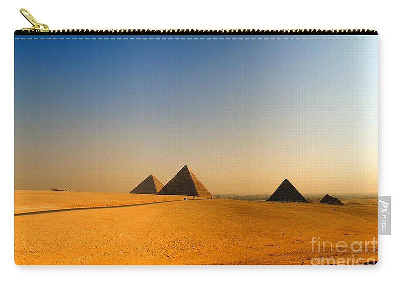 Pyramids Carry-all Pouch featuring the photograph Pyramids Of Giza 08 by Antony McAulay