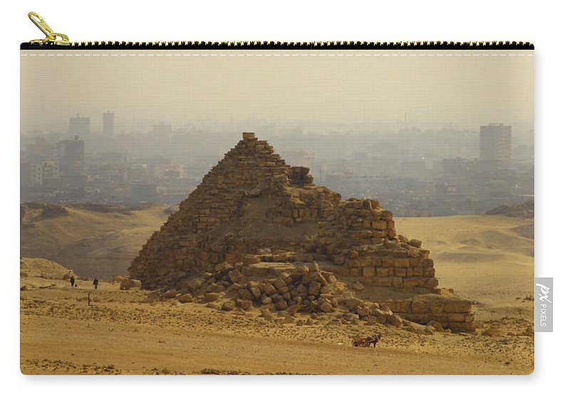 Pyramids Carry-all Pouch featuring the photograph Pyramids Of Giza 12 by Antony McAulay