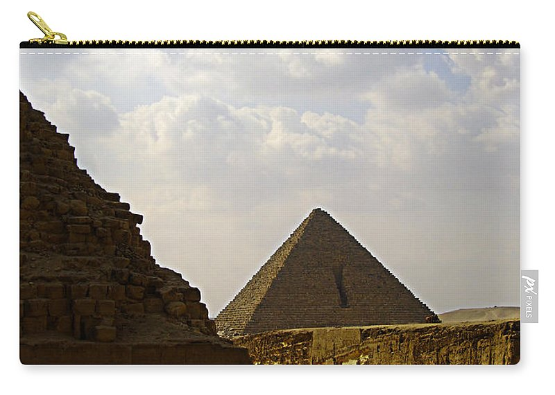 Pyramids Carry-all Pouch featuring the photograph Pyramids Of Giza 23 by Antony McAulay