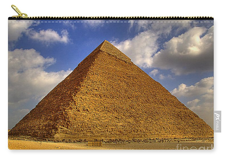 Pyramids Carry-all Pouch featuring the photograph Pyramids Of Giza 28 by Antony McAulay
