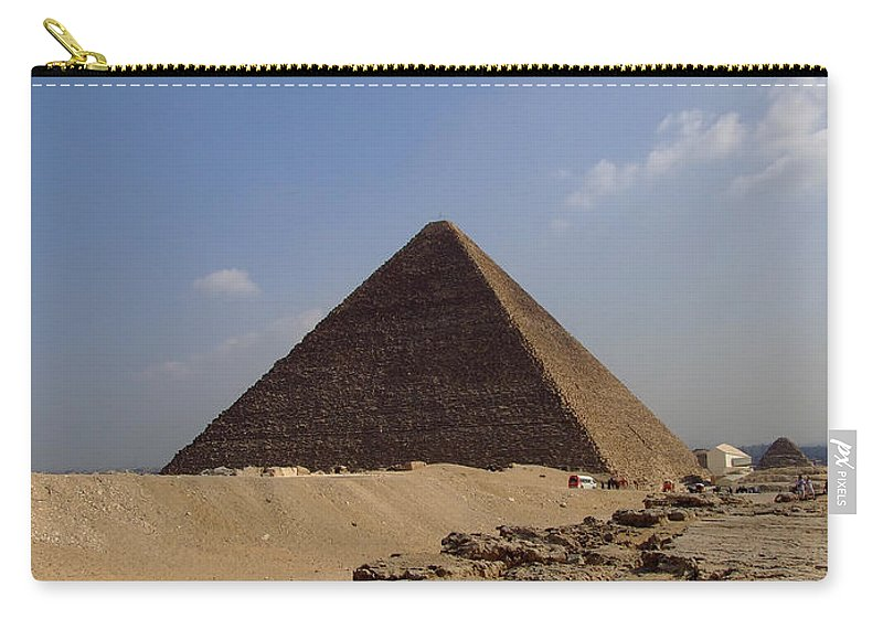 Pyramids Carry-all Pouch featuring the photograph Pyramids Of Giza 30 by Antony McAulay