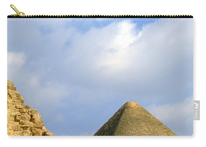 Pyramids Carry-all Pouch featuring the photograph Pyramids Of Giza 37 by Antony McAulay
