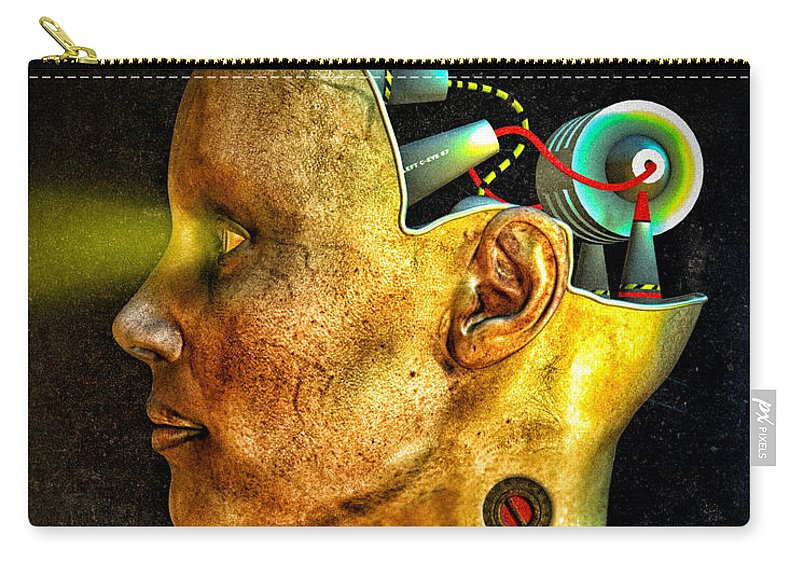 Pythia Carry-all Pouch featuring the digital art Pythia by Bob Orsillo
